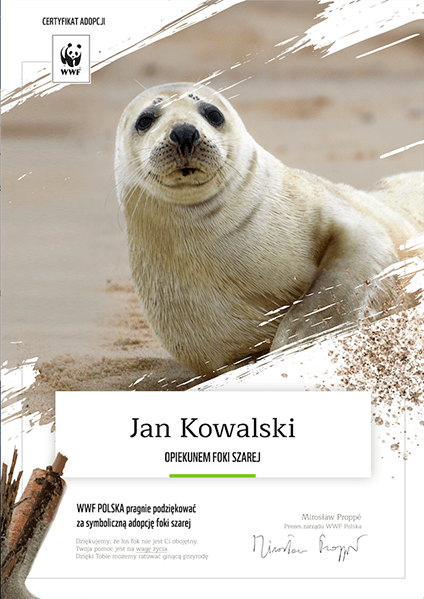 Wirtualna adopcja WWF